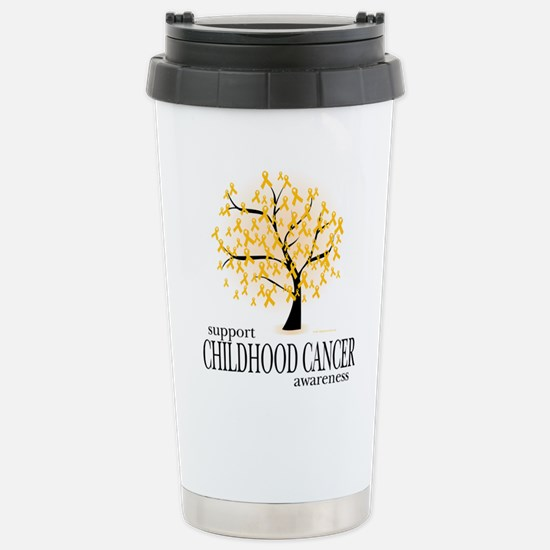 Childhood Cancer Tree Stainless Steel Travel Mug