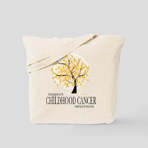 Childhood Cancer Tree Tote Bag