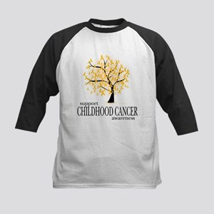 Childhood Cancer Tree Kids Baseball Jersey