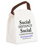 Social Distance Canvas Lunch Bag