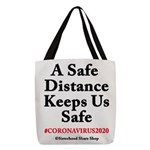 A Safe Distance Polyester Tote Bag