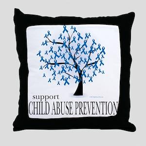 Child Abuse Tree Throw Pillow
