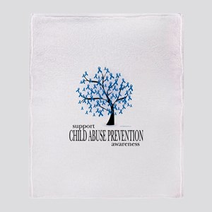 Child Abuse Tree Throw Blanket