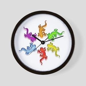 Gecko Colors Wall Clock
