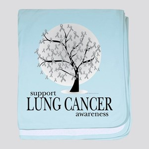Lung Cancer Tree baby blanket