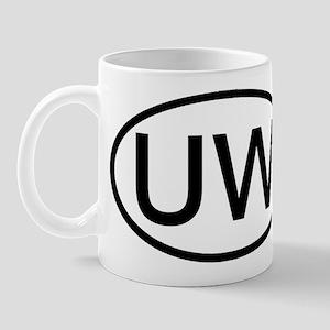 UW - Initial Oval Mug