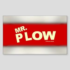 Mr Plow Sticker (Rectangle)
