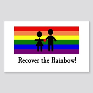 Recover the Rainbow Rectangle Sticker