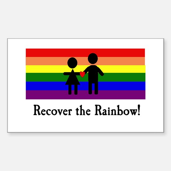 Recover the Rainbow Rectangle Decal