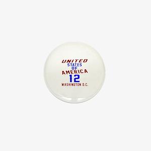 America 12 Birthday Mini Button