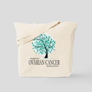 Ovarion Cancer Tree Tote Bag