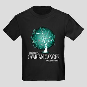 Ovarion Cancer Tree Kids Dark T-Shirt