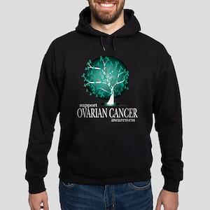 Ovarion Cancer Tree Hoodie (dark)