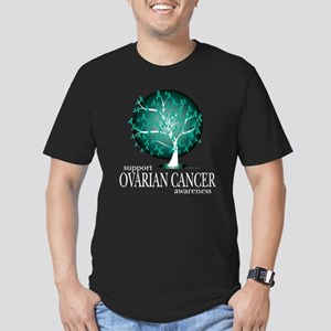 Ovarion Cancer Tree Men's Fitted T-Shirt (dark)