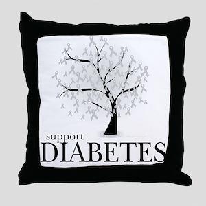 Diabetes Tree Throw Pillow