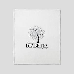 Diabetes Tree Throw Blanket