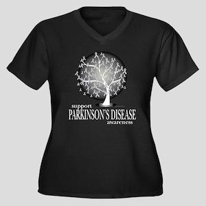 Parkinson's Disease Tree Women's Plus Size V-Neck