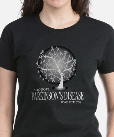 Parkinson's Disease Tree Women's Dark T-Shirt