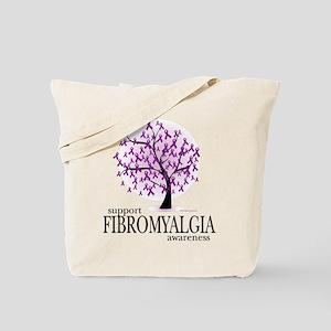 Fibromyalgia Tree Tote Bag
