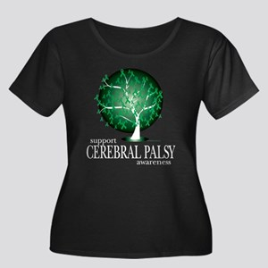 Cerbral Palsy Tree Women's Plus Size Scoop Neck Da