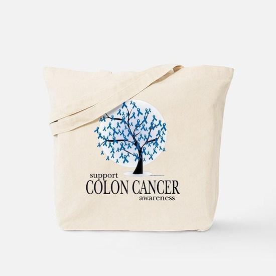 Colon Cancer Tree Tote Bag