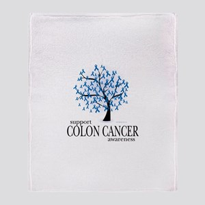 Colon Cancer Tree Throw Blanket