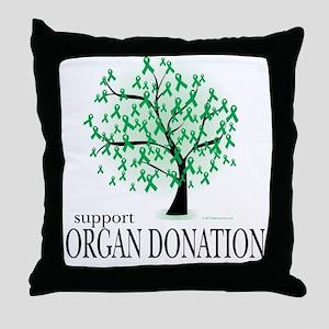 Organ Donation Tree Throw Pillow