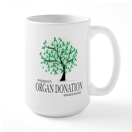 Organ Donation Tree Large Mug