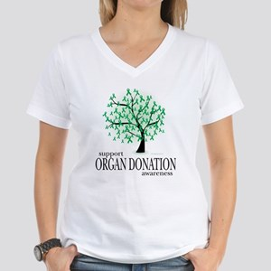 Organ Donation Tree Women's V-Neck T-Shirt