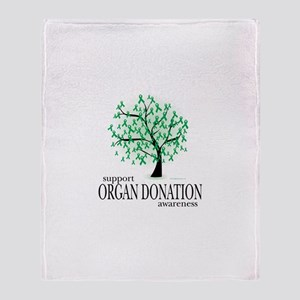 Organ Donation Tree Throw Blanket