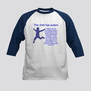 """Autistic Child"" Kids Baseball Jersey"