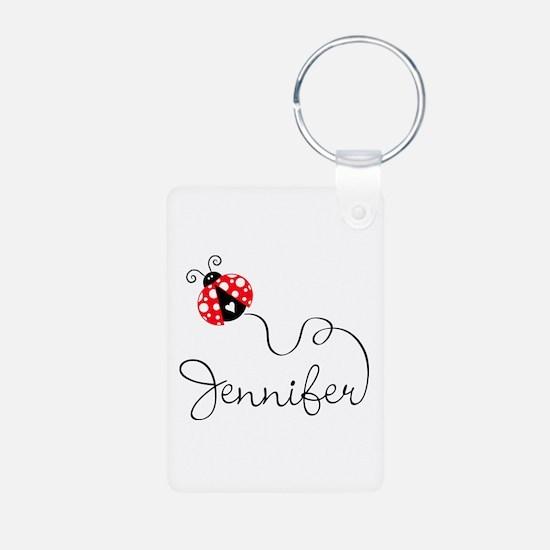 Ladybug Jennifer Aluminum Photo Keychain