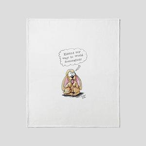 World Domination Pup Throw Blanket