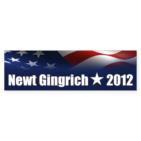 Newt Gingrich 2012 Sticker (Bumper)