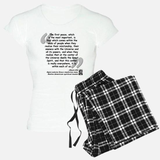 Black Elk Spirit Quote Pajamas