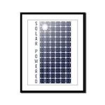 Solar Panel Framed Panel Print