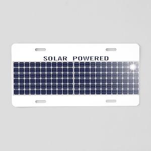 Solar Panel Aluminum License Plate