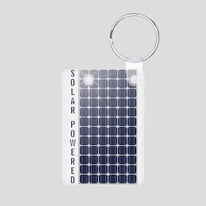 Solar Panel Aluminum Photo Keychain