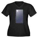 Solar Panel Women's Plus Size V-Neck Dark T-Shirt