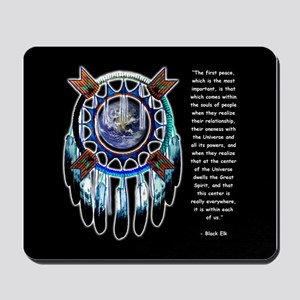 Black Elk Quote Mousepad