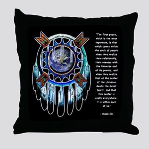 Black Elk Quote Throw Pillow