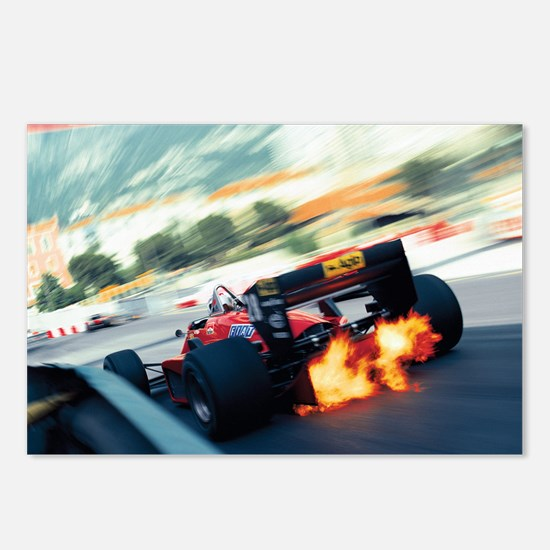 Funny Grand prix Postcards (Package of 8)