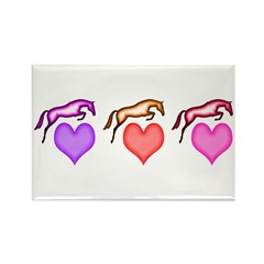 jumpers + hearts Rectangle Magnet