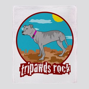 Tripawds Rock - Lottie Throw Blanket
