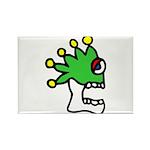 Malinalco - Jester Skull Rectangle Magnet (10 pack