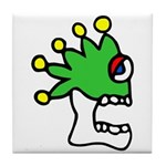 Malinalco - Jester Skull Tile Coaster