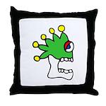 Malinalco - Jester Skull Throw Pillow