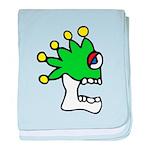 Malinalco - Jester Skull baby blanket