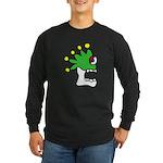 Malinalco - Jester Skull Long Sleeve Dark T-Shirt