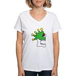 Malinalco - Jester Skull Women's V-Neck T-Shirt